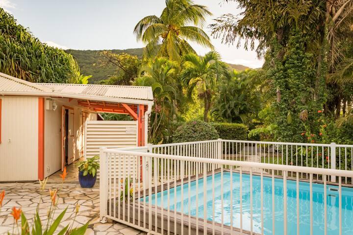 Villa Hibiscus avec piscine, 6 à 10 personnes - Pointe Noire - Villa