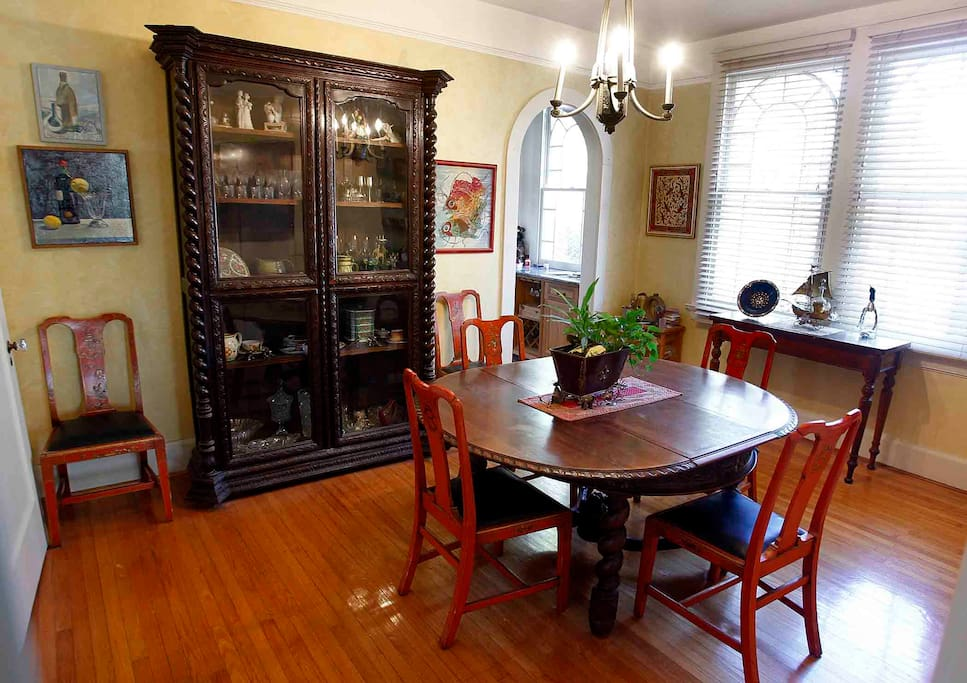 Dining Room with French Antique Furniture.