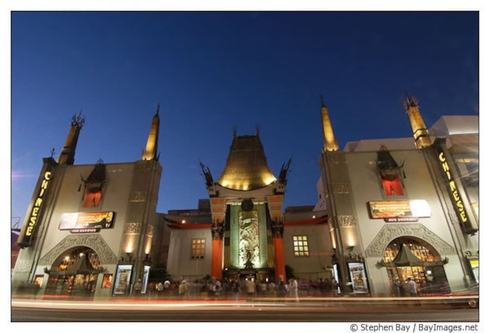 The Chinese Theatre is just one block up on Hollywood Blvd...