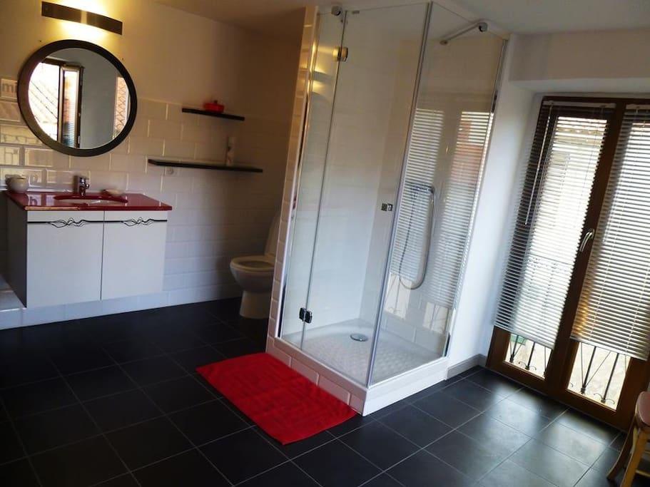 grande salle de bain moderne