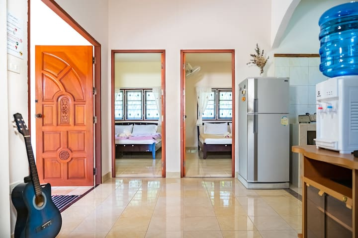 ✭55m²✭Family✭Parking✭A/C✭Full Kitchen✭2BR✭Balcony✭