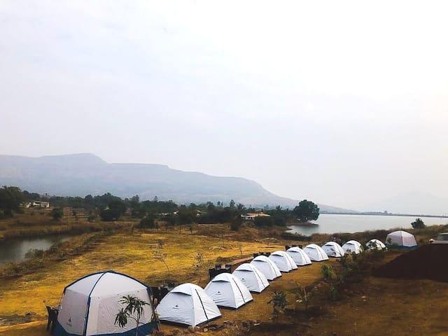 Lake View Tent camping Hadashi Dam Mulashi