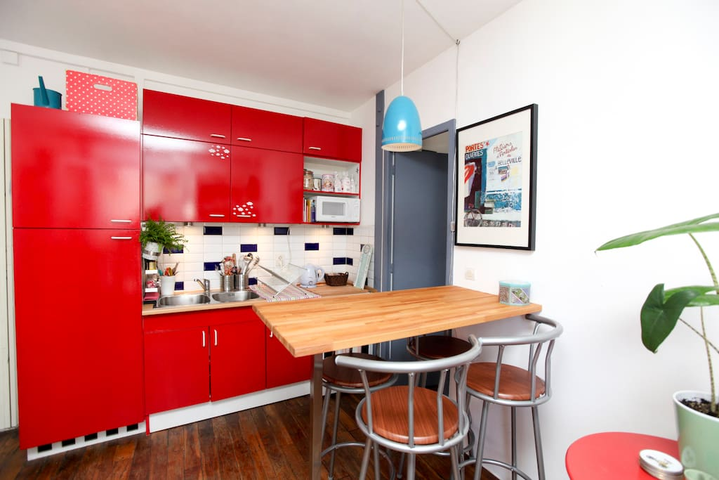 The red kitchen for dynamic meals!