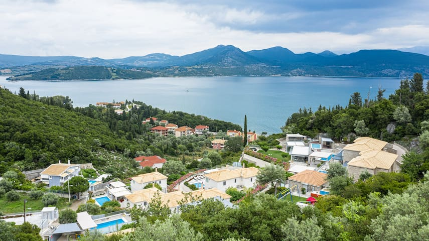 View from up the hill where Thealos Village Resort is located.