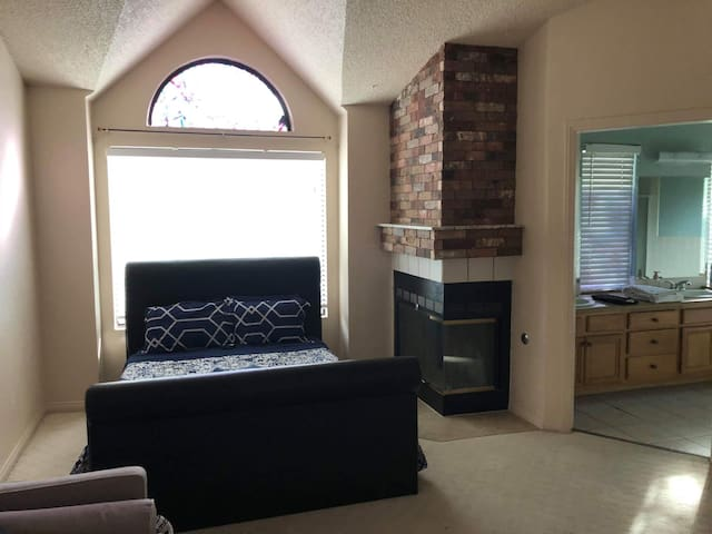 Master Bedroom w/ bath in a house near the Strip