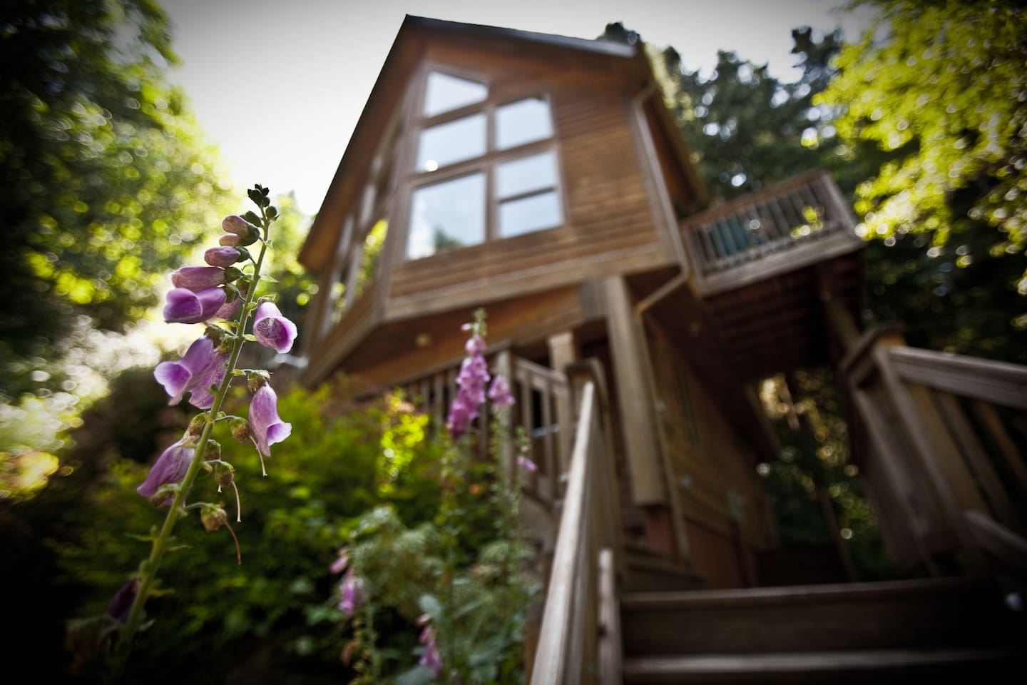 Welcome to the Huckleberry Chalet, a finely crafted vacation home nestled into the beautiful forested hillside of Welches, Oregon.