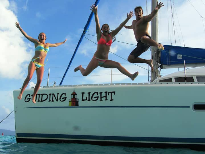 Explore the Carribean sailing on the Guiding Light