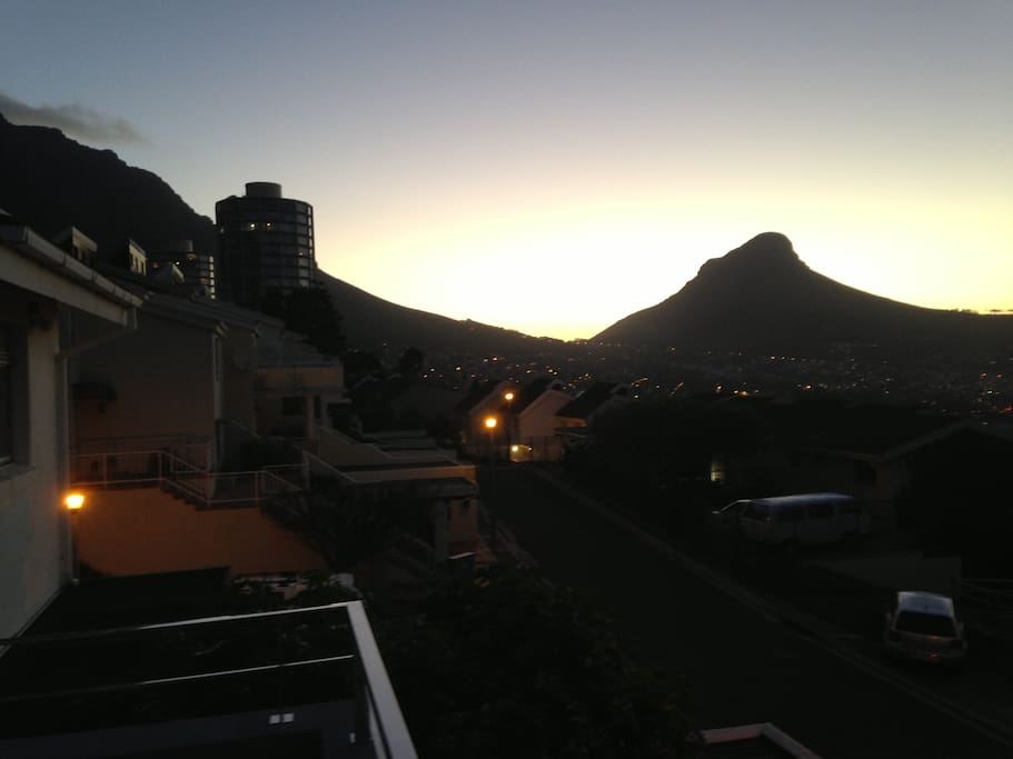View of Lion's Head, Cape Town, from the upper balcony