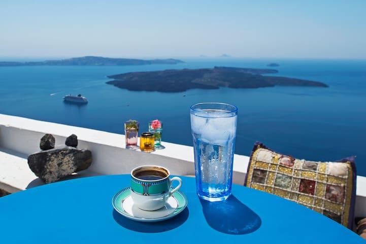 Kayo - Amazing view in Imerovigli - Imerovigli - Hus