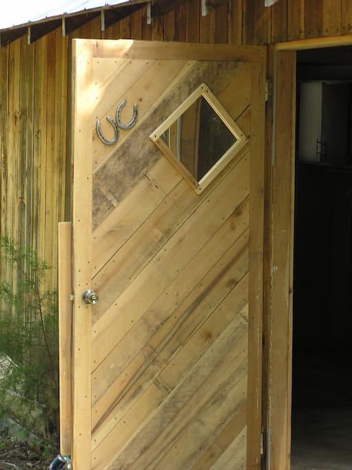 Custom doors for privacy.