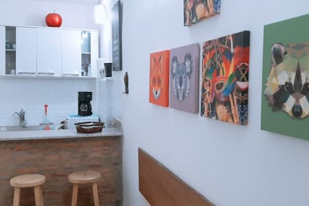 Studio mobiliado e privativo com garagem