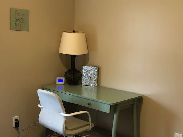 Work station in bunk room