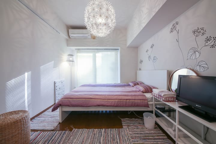 【New!!】12min to AKIHABARA by walk(1K/22㎡/Wi-Fi) - Bunkyō-ku - Apartamento