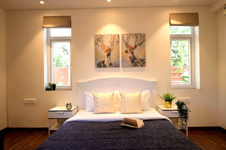 Modern King-Size Bed | Bedside Tables | 2 Bedroom Suite | Swimming Pool | Housekeeping Services