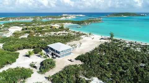 New! Private Beach Front Home in Paradise close to World Famous Swimming Pigs