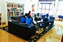The library within the institute is also available for your use