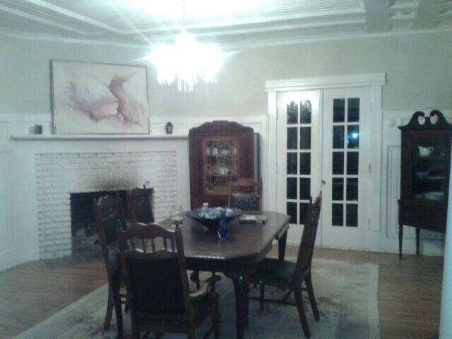 Fireplace dining room