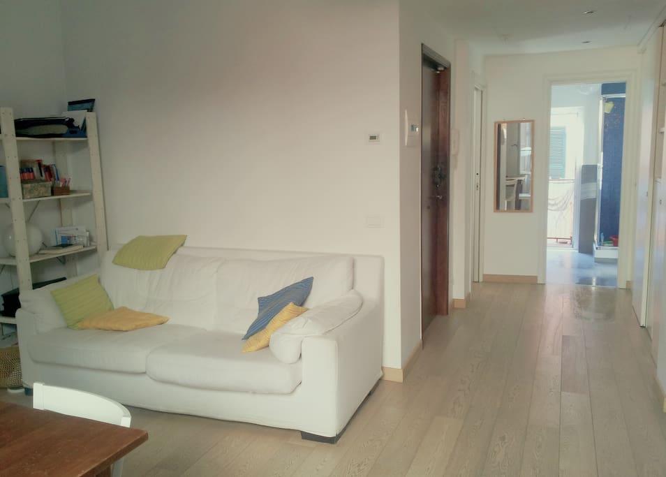 Sofa, corridor