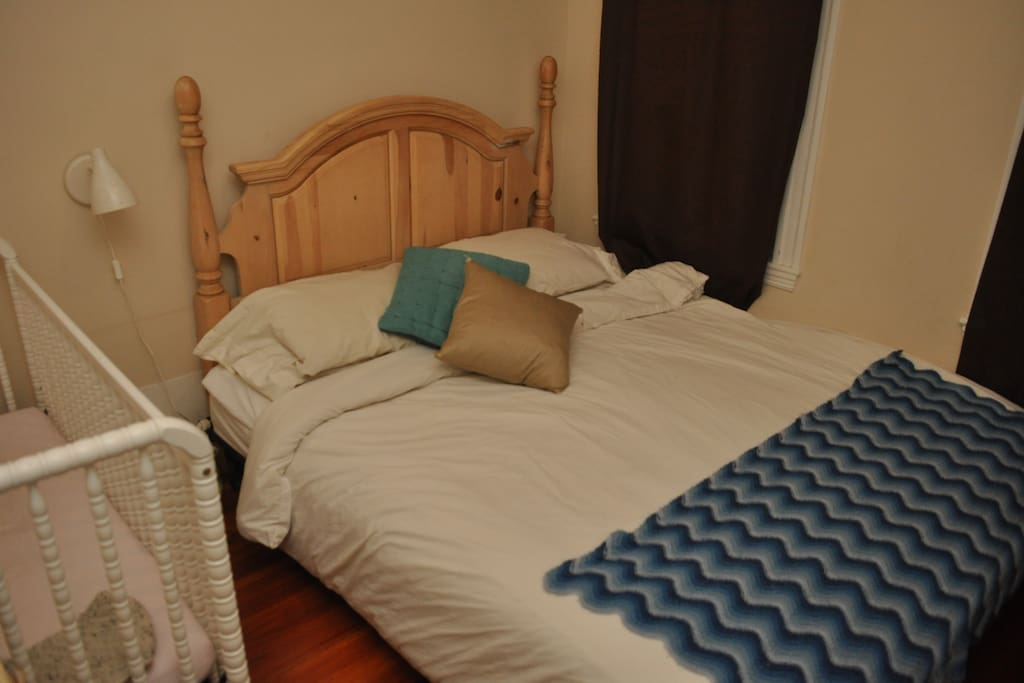 California King Bed. (Crib is no longer in this room)