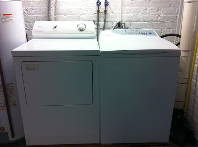 Washer and dryer available (detergent & softener will be on top of dryer)