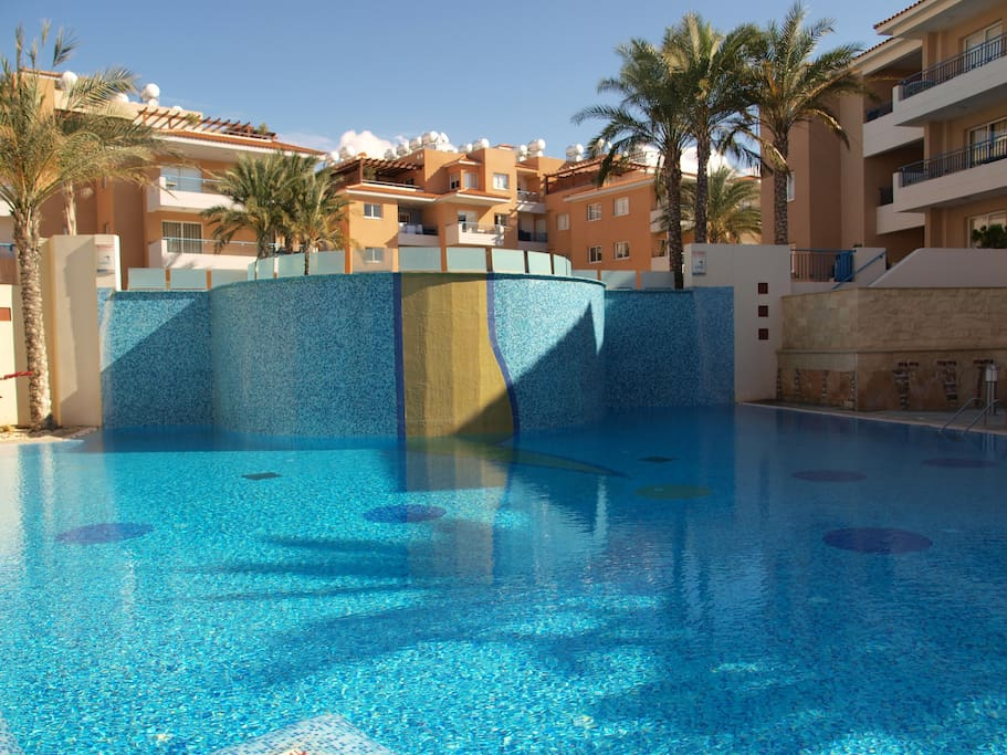 Largest apartment pool in Paphos