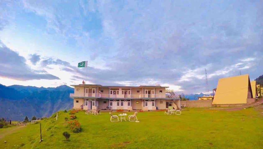 Shogran Hotel in the midst of a picturesque valley