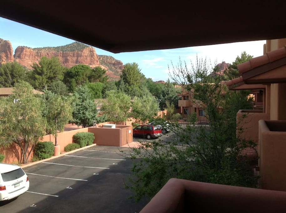 front balcony off private bedroom has red rock views