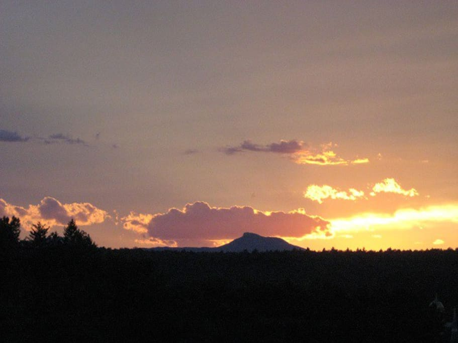 This is our view of Camel's Hump in the back yard at sunset.