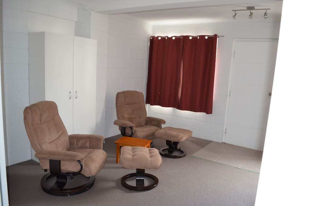Comfortable separate lounge with second TV.