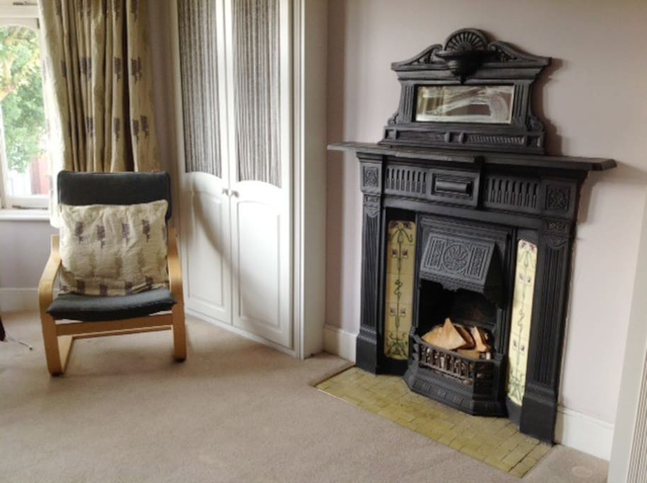large double room with original fireplace