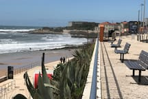 Carcavelos beach and promenade