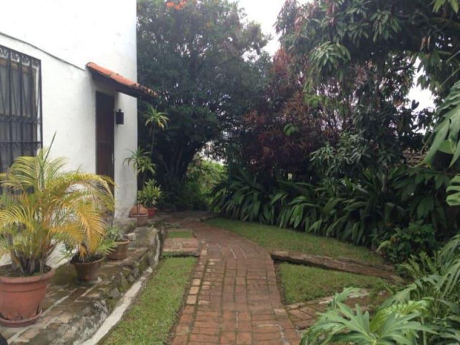 Jardin y Entrada al Apartamento No. 5