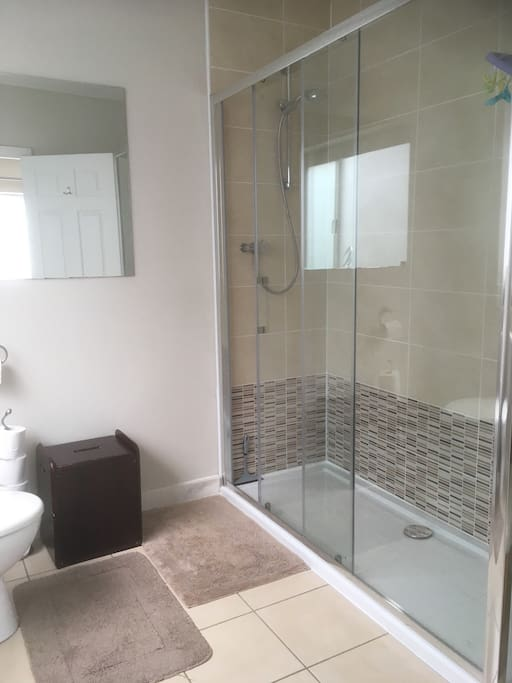 Your private en-suite with large, new walk-in shower