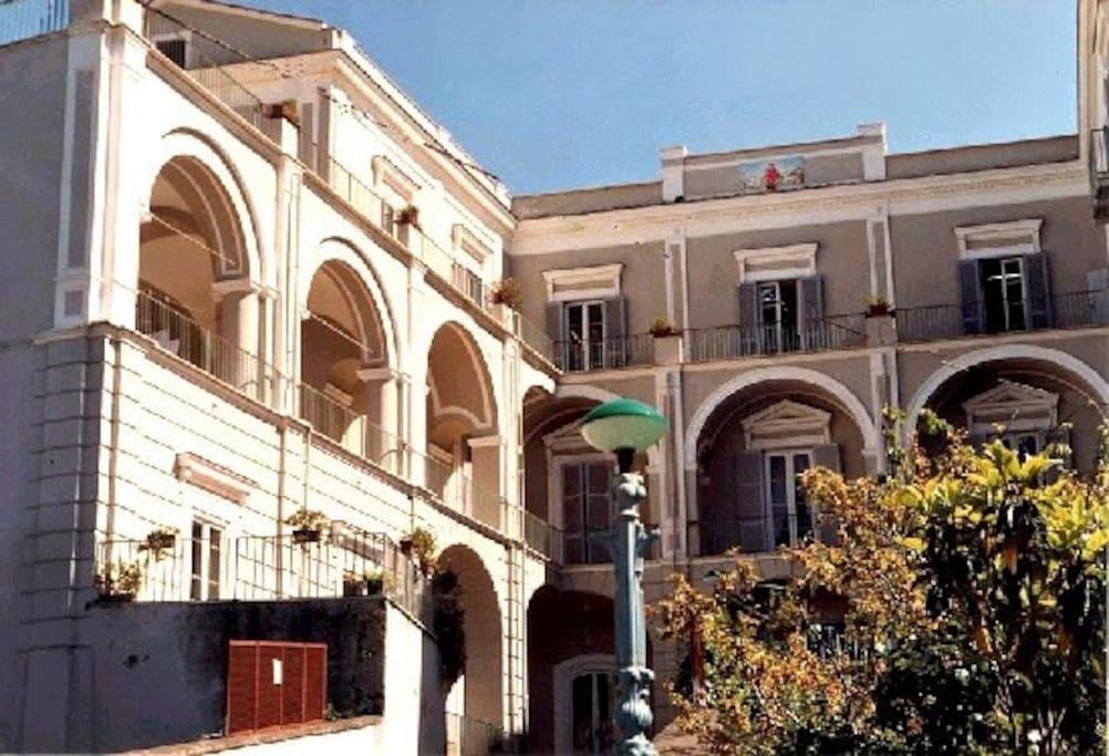 Façade of the Religious House La Culla in Sorrento