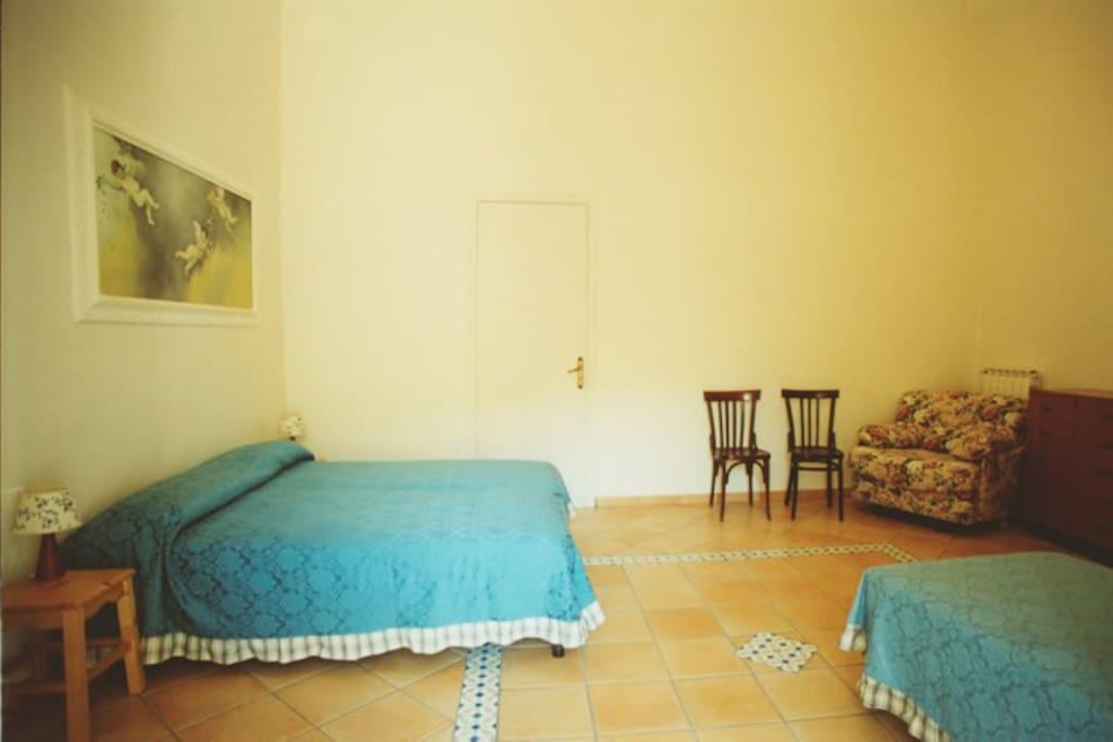 Bedroom of the Religious House La Culla in Sorrento