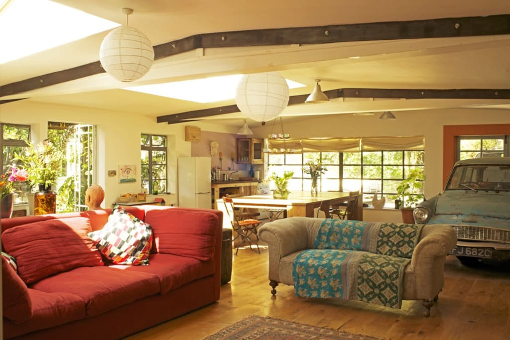 Huge living space, warm and cosy, great for social gatherings.