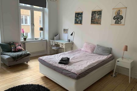 Large room in cozy Haga, best location