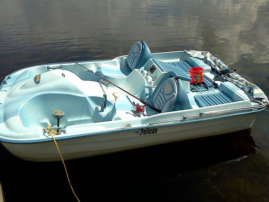 A fun pedal boat for your use. Has a canopy if you need shade