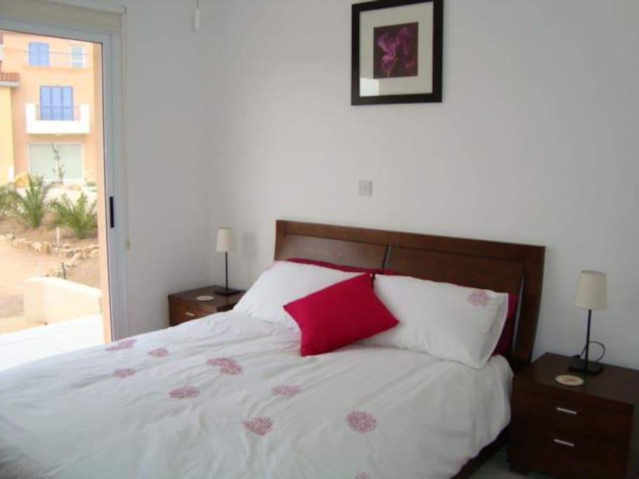 Large double bedroom - there is also a travel cot which fits in easily