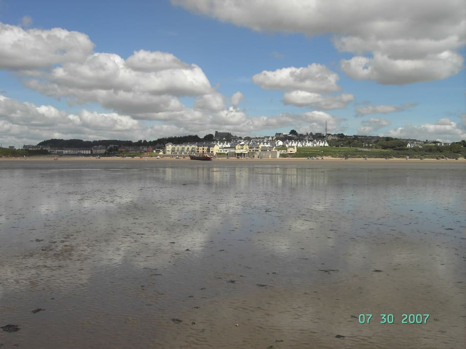 Duncannon village from low tide