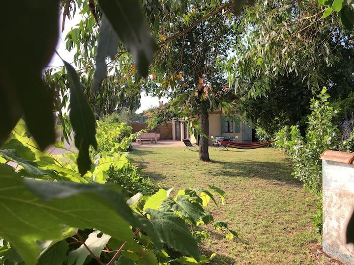 Maisonnette 4/5 pers avec piscine 150m2 de jardin