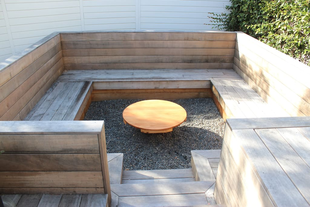 Wooden snug seating