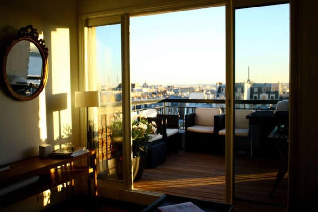 Duplex de luxe avec 2 terrasses appartements louer for Chambre 8m2 paris