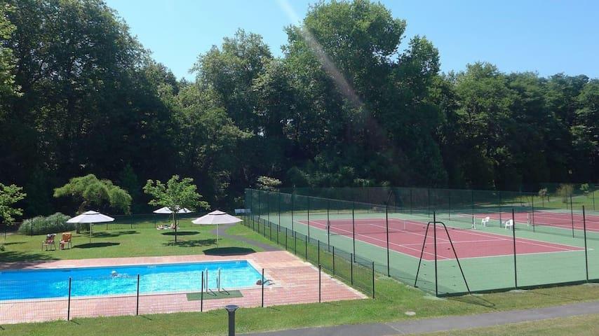Biarritz, T2 50m2+Terrasse 25m2, Piscine et Tennis