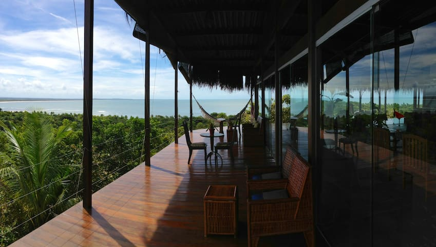 Glass house with an incredivel view - Velha Boipeba