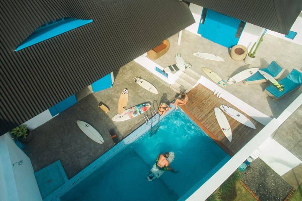 ❀  Santorini style + Pool + Yoga shala + Surf ❀ Organic food