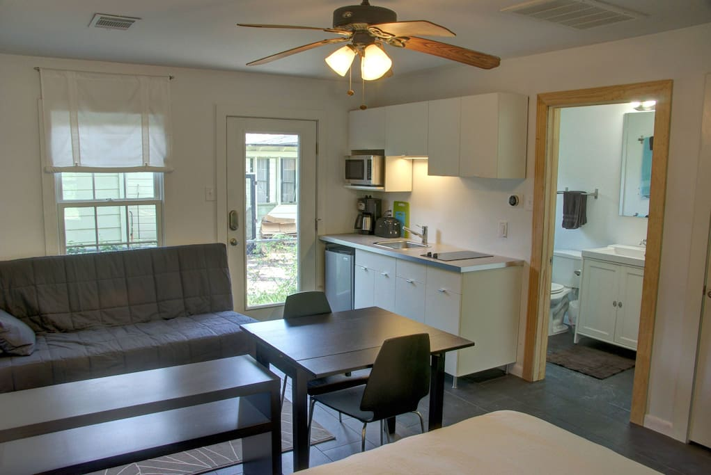 Kitchenette/Sitting Area complete w/ dining table that sits 2.