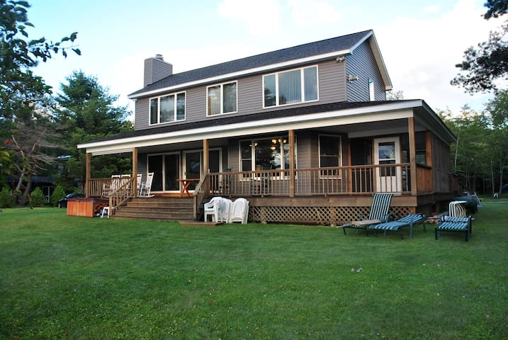 Large Lakefront Adirondack Home  - Caroga Lake