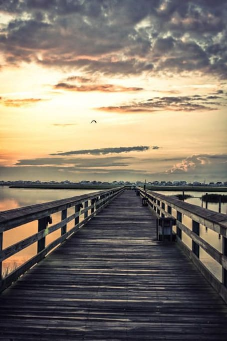 The marshwalk at sunset