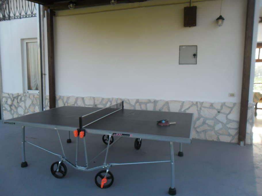 Tavolo di ping pong a disposizione degli ospiti